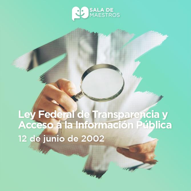 Se crea el organismo responsable de la Transparencia: Instituto Federal de Acceso a la Información Pública