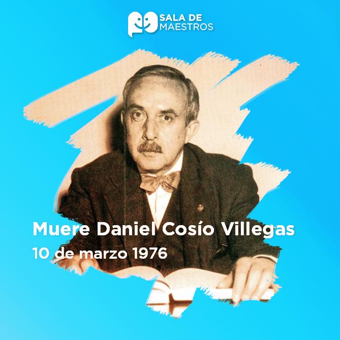 Fue secretario general de la UNAM y presidente del Colegio de México