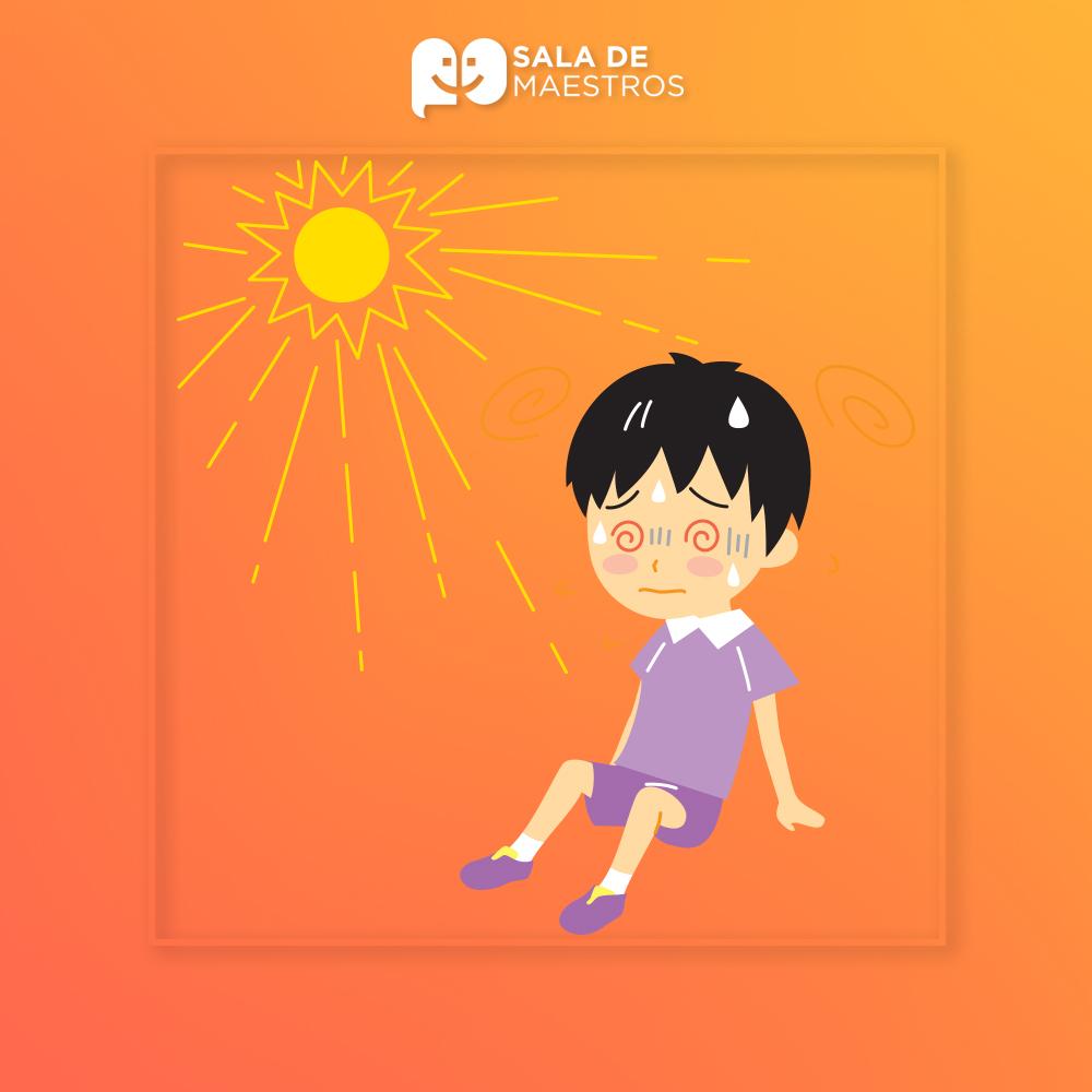 ¿Cómo identificar un golpe de calor en nuestros alumnos?