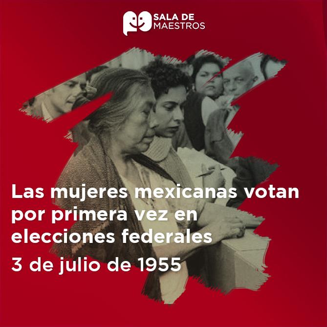 Se conmemoran 65 años del voto de la mujer en México